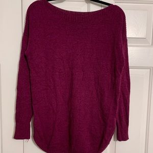 Old Navy Maroon Long Sleeved Sweater
